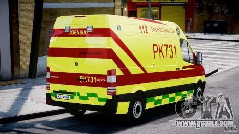 Mercedes-Benz Sprinter PK731 Ambulance [ELS] for GTA 4 side view