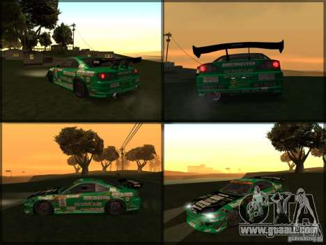 Nissan Silvia S15: Kei Office D1GP for GTA San Andreas back left view