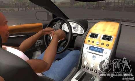 Aston Martin DB9 Female Edition for GTA San Andreas upper view