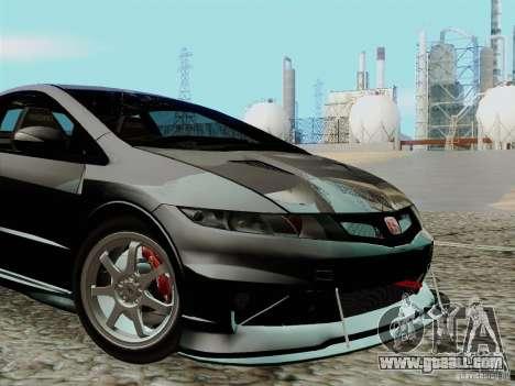 Honda Civic TypeR Mugen 2010 for GTA San Andreas inner view
