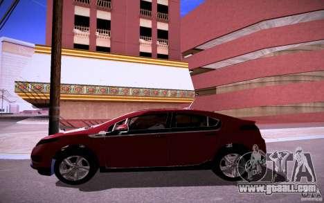 Chevrolet Volt for GTA San Andreas inner view