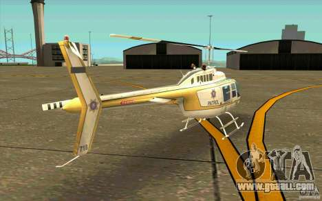 Bell 206 B Police texture4 for GTA San Andreas right view