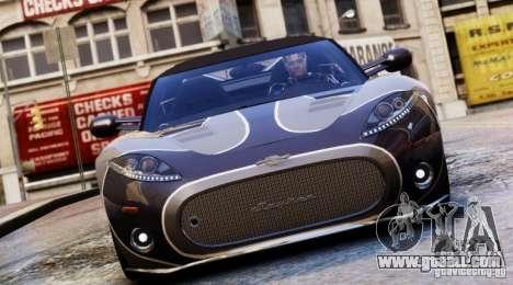 Spyker C8 Aileron Spyder Final for GTA 4 side view