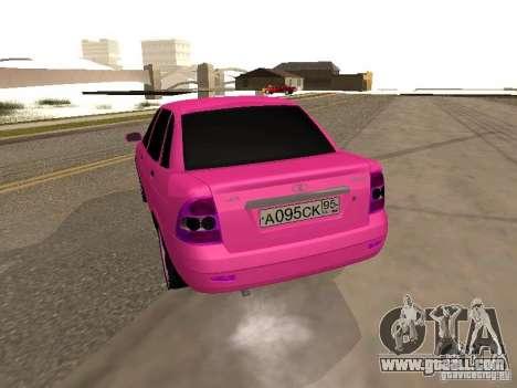 Lada Priora Emo for GTA San Andreas back left view