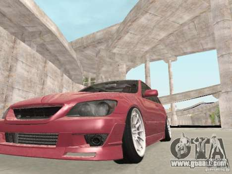 Lexus IS300 HellaFlush for GTA San Andreas inner view