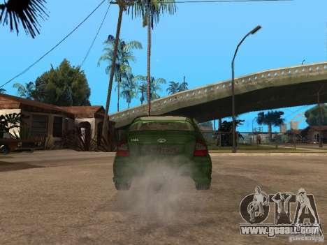 Lada Kalina Sport Tuning for GTA San Andreas back left view
