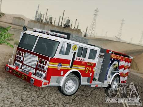Seagrave Marauder. F.D.N.Y. Squad 61. for GTA San Andreas side view
