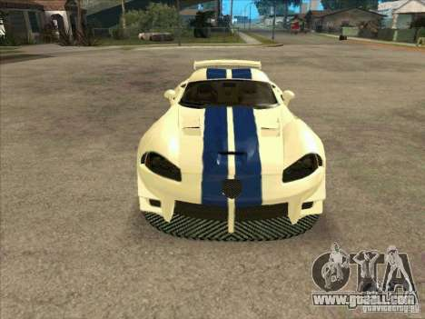 Dodge Viper from MW for GTA San Andreas back view
