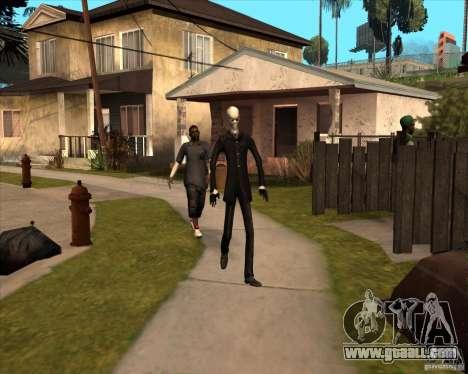 Slender in dark glasses for GTA San Andreas sixth screenshot