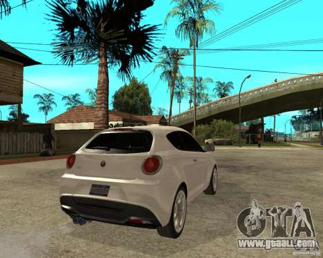 Alfa Romeo Mito for GTA San Andreas back left view