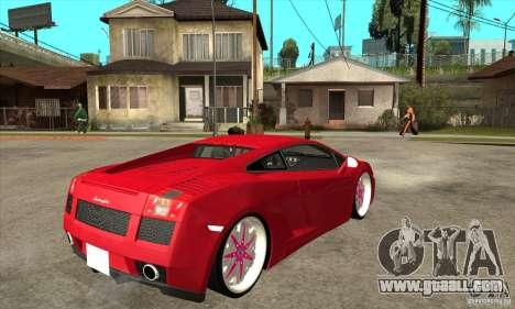 Lamborghini Gallardo White & Pink for GTA San Andreas right view