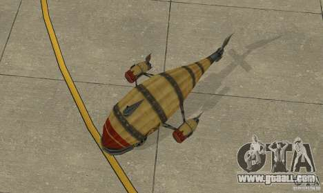 Airship of TimeShift for GTA San Andreas back view