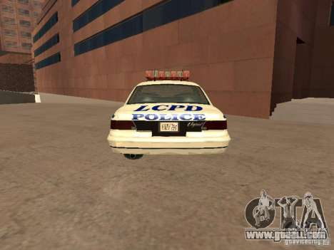 The police of GTA4 for GTA San Andreas back left view