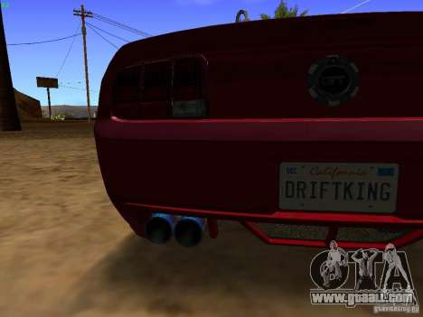Ford Mustang GT 2005 Tuned for GTA San Andreas inner view