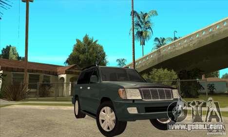 Toyota Land Cruiser 100vx v2.1 for GTA San Andreas inner view