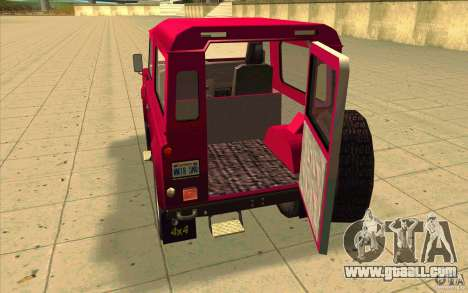 Land Rover Defender 90SW for GTA San Andreas inner view
