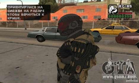 Crysis skin for GTA San Andreas second screenshot