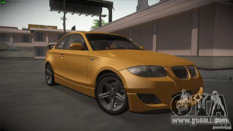 BMW 135i Coupe Road Edition for GTA San Andreas back view