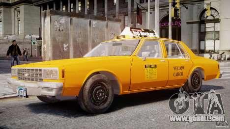 Chevrolet Impala Taxi 1983 for GTA 4