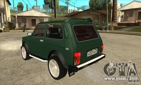 VAZ 21213 NIVA for GTA San Andreas back left view
