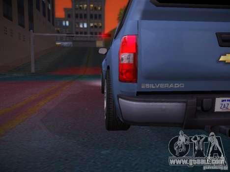 Chevrolet Silverado for GTA San Andreas interior