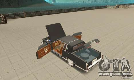 Cadillac Coupe DeVille 1985 for GTA San Andreas inner view
