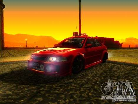 Mitsubishi Lancer Evolution VI GSR 1999 for GTA San Andreas