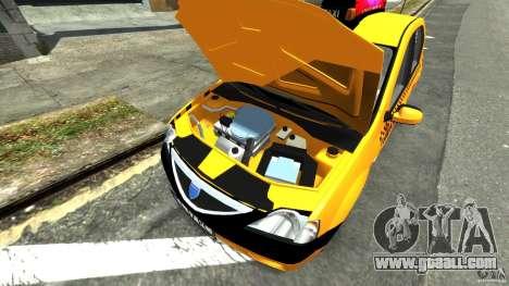 Dacia Logan Prestige Taxi for GTA 4 back view