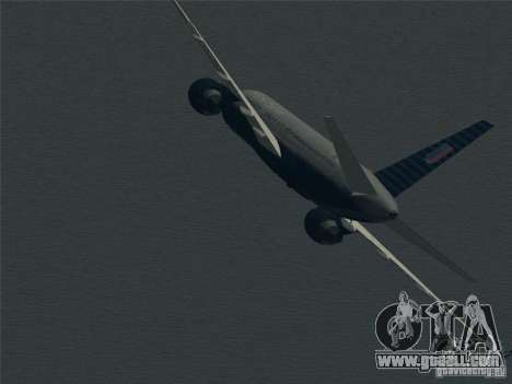 Boeing 757-200 United Airlines for GTA San Andreas upper view