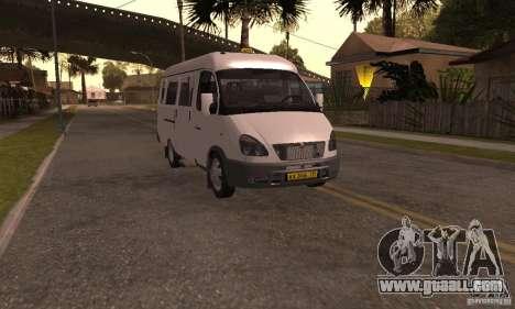 Gazelle 32213 Novosibirsk Minibus for GTA San Andreas