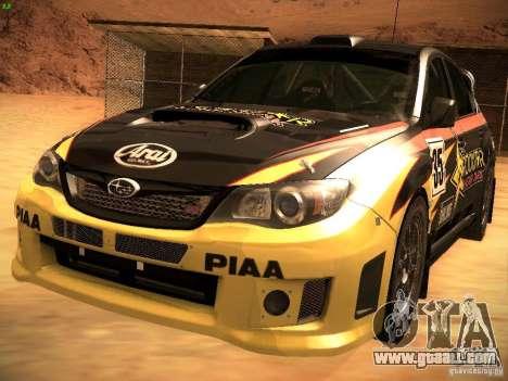 Subaru Impreza Gravel Rally for GTA San Andreas interior