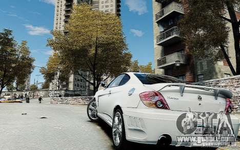 Hyundai Tuscani for GTA 4 left view