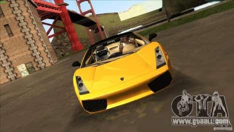 Lamborghini Gallardo SE for GTA San Andreas right view