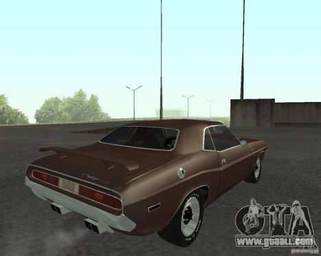 Dodge Challenger for GTA San Andreas left view