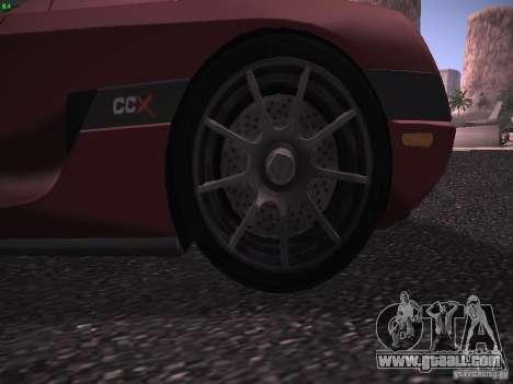 Koenigsegg CCX 2006 for GTA San Andreas side view