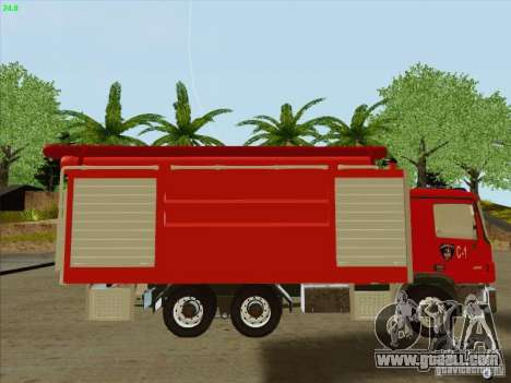 Mercedes Benz Actros Bomberos C1 for GTA San Andreas left view