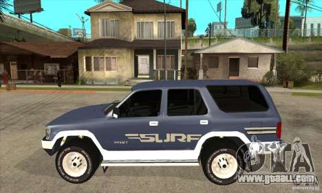Toyota Surf v1.0 for GTA San Andreas left view