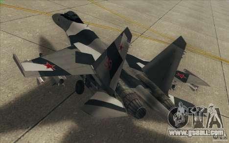 Su-35 BM v2.0 for GTA San Andreas bottom view