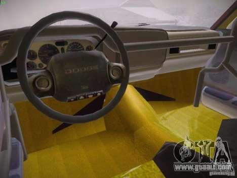 Dodge Ram Prerunner for GTA San Andreas back view