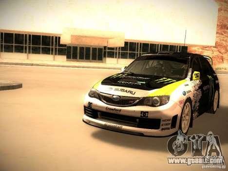 Subaru Impreza Gymkhana for GTA San Andreas left view