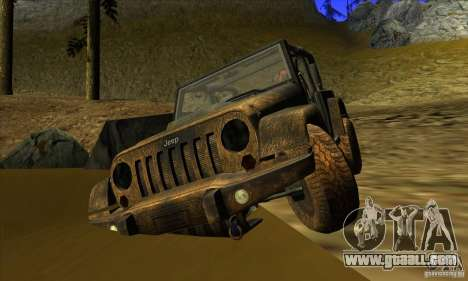 Jeep Wrangler for GTA San Andreas back view