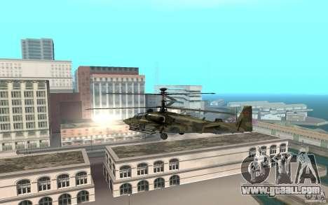 Ka-52 Alligator for GTA San Andreas back left view