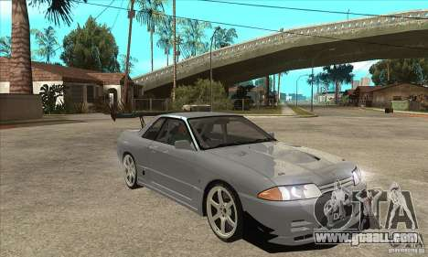 Nissan Skyline GT R R32 for GTA San Andreas back view