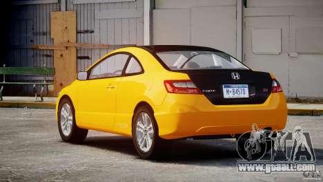 Honda Civic Si Coupe 2006 v1.0 for GTA 4 upper view