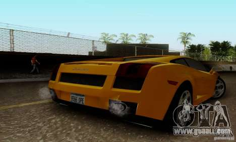 Lamborghini Gallardo for GTA San Andreas left view