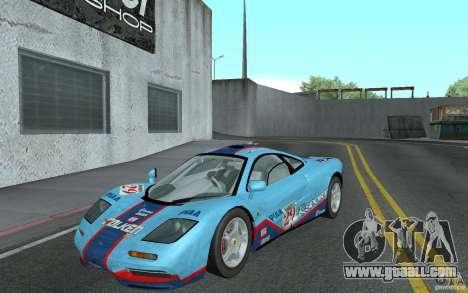 Mclaren F1 road version 1997 (v1.0.0) for GTA San Andreas
