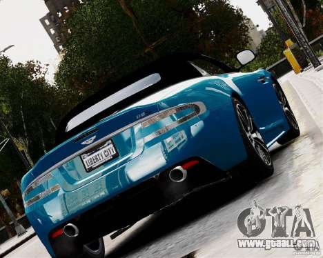 Aston Martin DBS Volante 2010 v1.5 Diamond for GTA 4 back left view