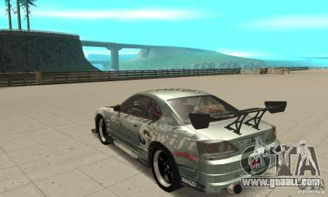 Nissan Silvia S15 [F&F3] for GTA San Andreas back left view
