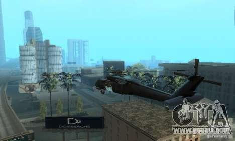 UH-60M Black Hawk for GTA San Andreas back left view