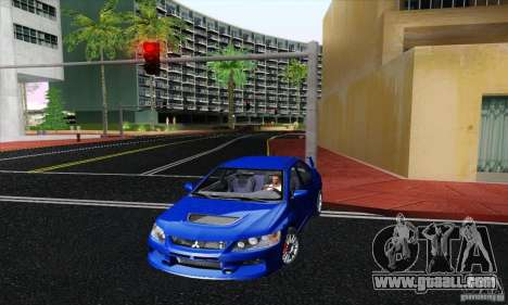 Mitsubishi Lancer Evolution 9 MR Edition for GTA San Andreas back left view